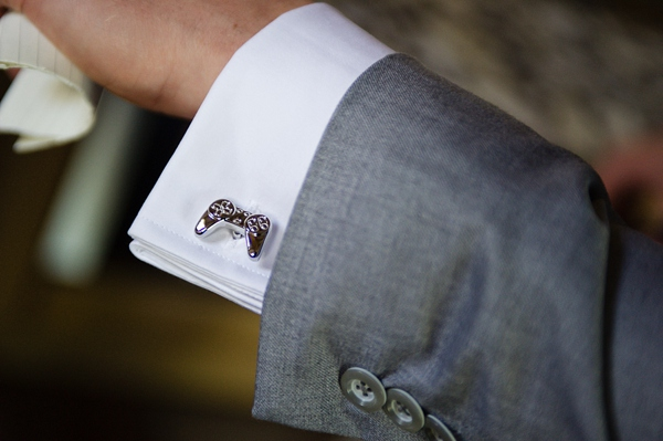 Bishton hall wedding photos Cris lowis photo, playstation cufflinks