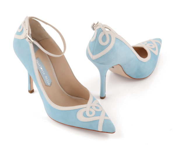 ana (blue), bridal shoe, bridal footwear, wedding shoe, charlotte mills bridal
