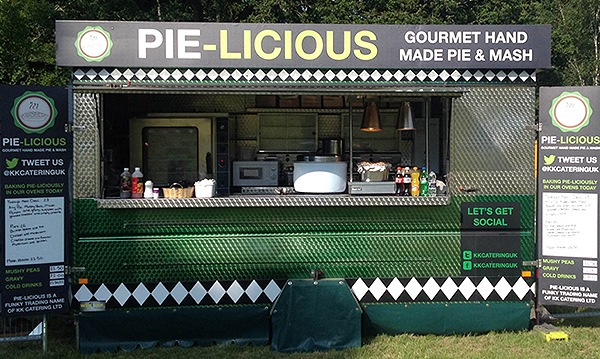 kk catering, pie and mash van, alternative catering, MrsPandPs Sunday Morning Cuppa, Wedding Blog Catch up
