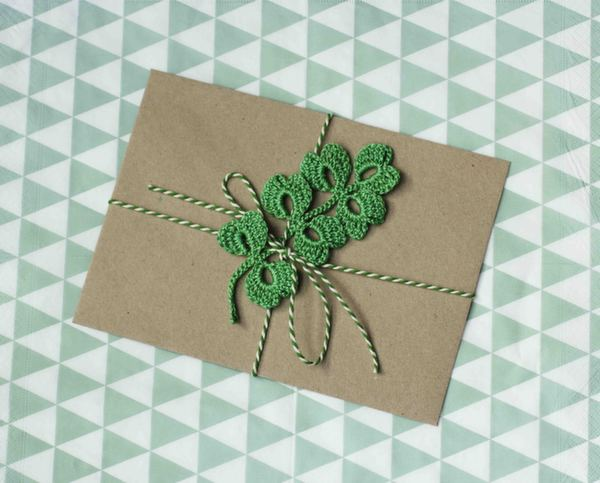 twine_&_crocheted_leaf, favour decoration, wedding decor, party paraphenalia, pea green boat