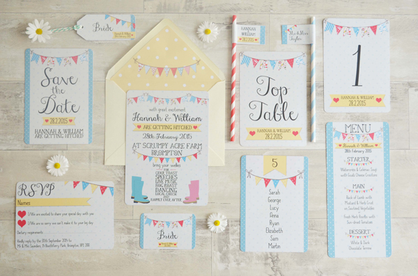 Fete design, swoon at the moon, wedding stationery
