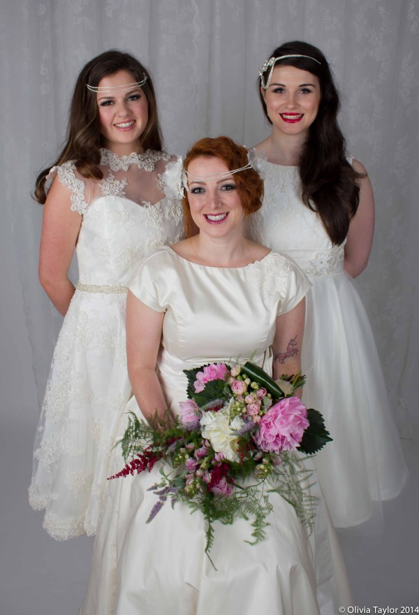 Images by Olivia Taylor Photography , bridal accessories, Jewellery and styling - Susan Dick Jewellery, Hair and Make Up - Pin Up Pro, Floristry - First Blush Flowers, Dresses - Flossy and Dossy, collaborative bridal shoot,