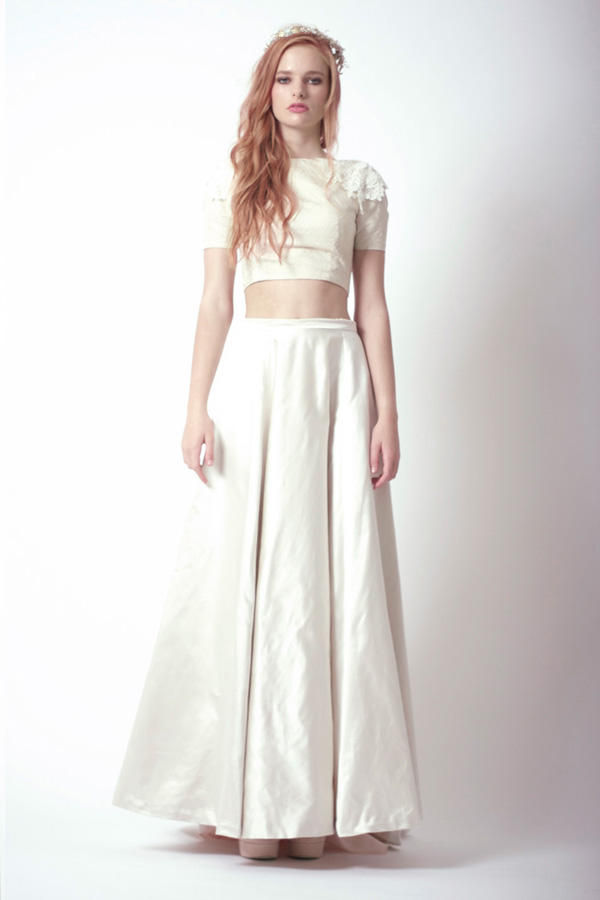 Celine Top-Julia Skirt, bespoke bridalwear, lorie x