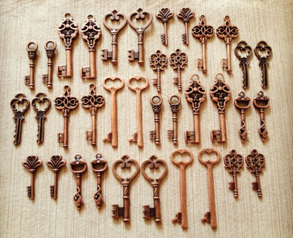 keys, place settings, etsy