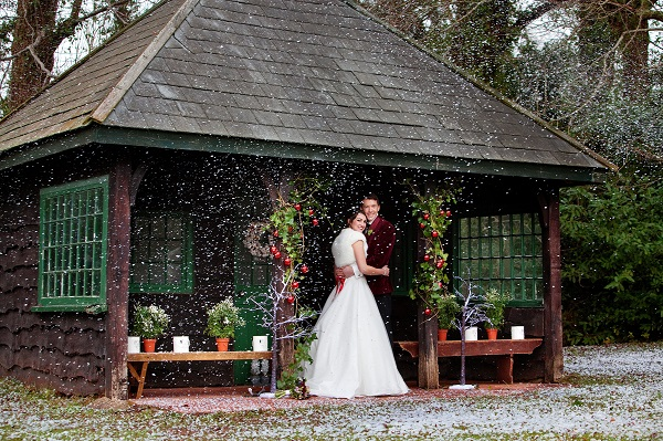 Bride & Groom at The Summerhouse Let It Snow