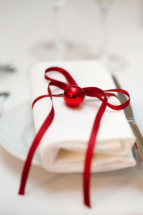 Winter Wedding Marquee Reception Table Detail