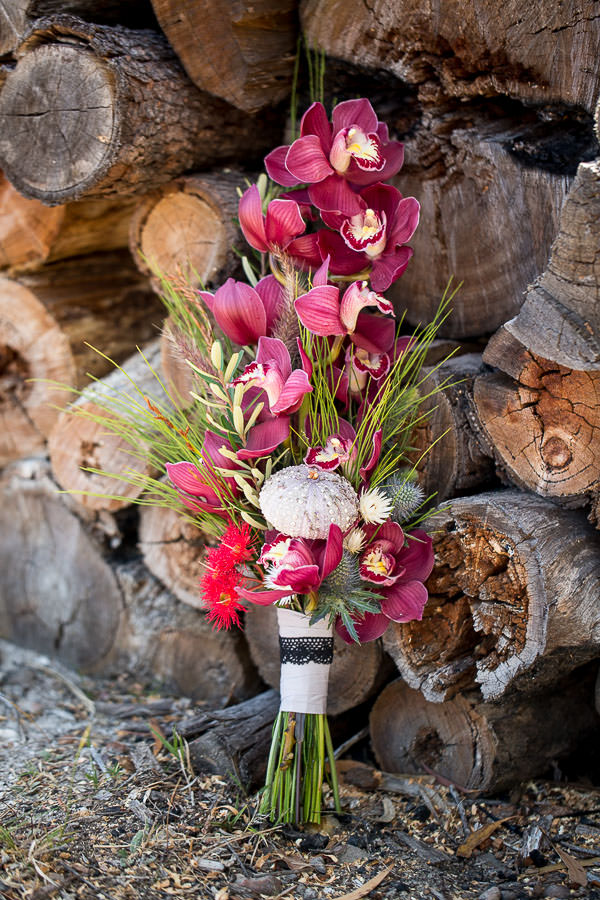 Gemma Clarke Photography, intimate wedding, bluestone bay tasmania , bridal bouquet - alba and ebon
