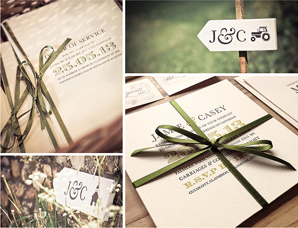 oyster and pearl, bespoke wedding stationery