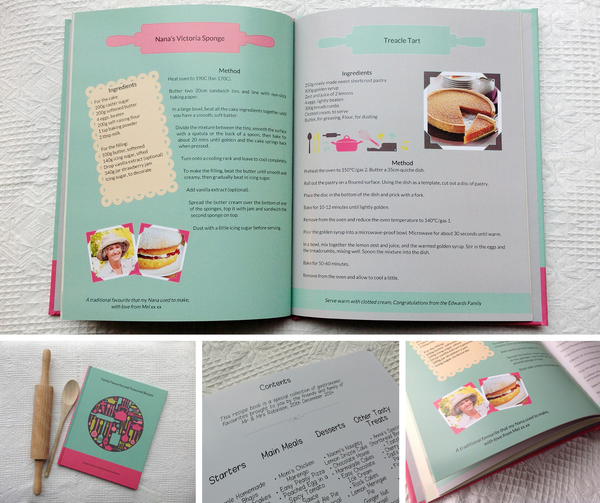 Recipe Giftbook, alternative Wedding Gift, wedding gift, uk wedding blog, family recipe