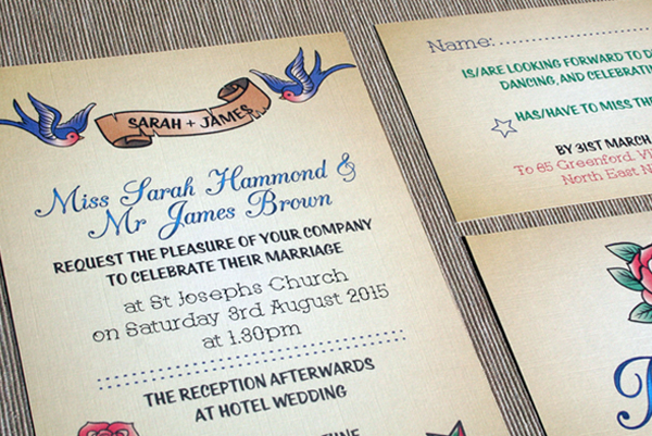 Wedding Stationery, wedding stationery Collections, bespoke wedding stationery, On The Day Stationery, Table Plans, Table Numbers, Announcement Cards, place cards, thank you cards, Helen scott design