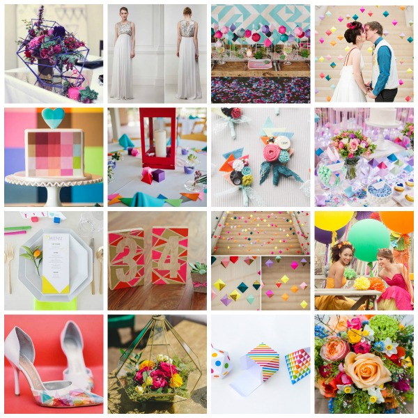 MrsPandPs Sunday Morning Cuppa, Wedding Blog , Blog Catch Up ,April 26th 2015, geometric wedding, raibow geometric moodboard, rainbow geometric, rainbow geometric wedding, rainbow geometric wedding styling, rainbow geometric wedding tips, rainbow wedding, uk wedding blog