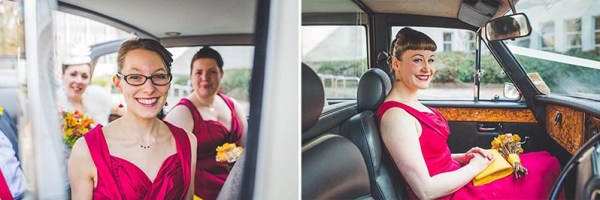 bridesmaids-wedding-car-southampton-art-gallery, nick rutter photo
