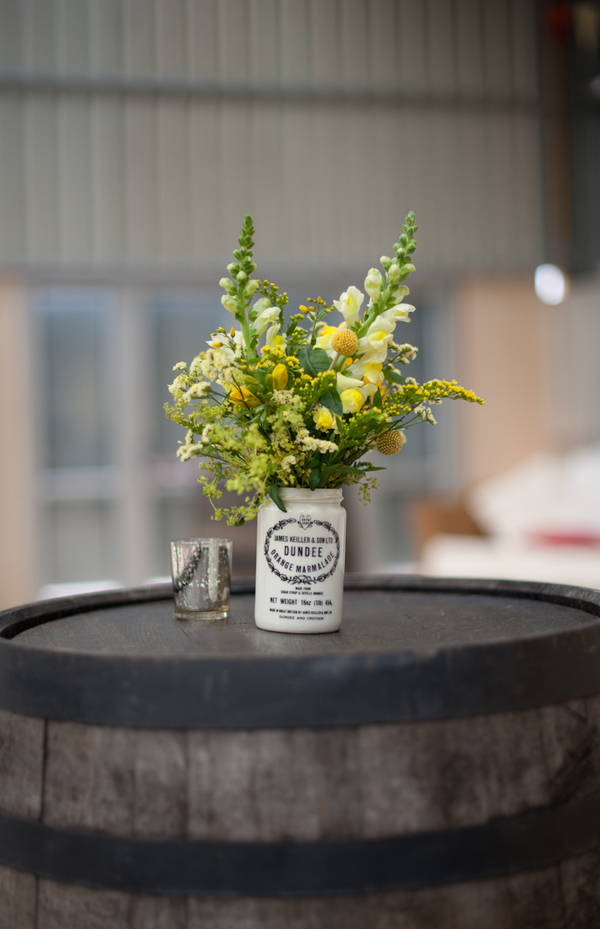 © jamie penfold photography 2015 - www.memoriesandemotions.co.uk, barrel, flowers in jars