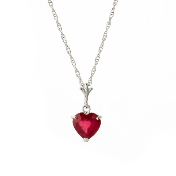 White Gold and Ruby Pendant , QP Jewellers , bridal party jewellery