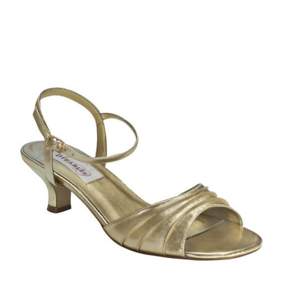 Dyeables Brielle Gold Sandals, elegant steps, alternative-bridal-shoes, alternative-wedding-shoes