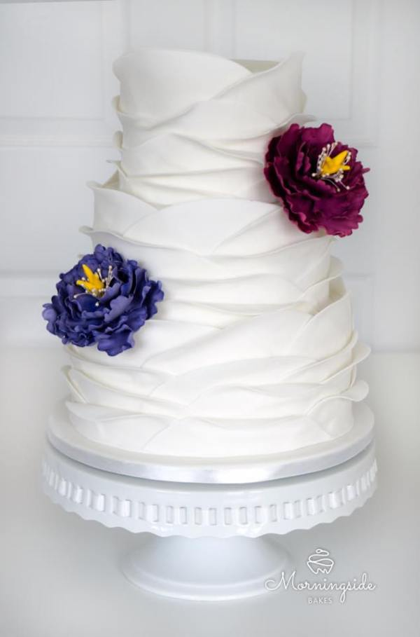 ruffle cake, morningside bakes, wedding cakes, celebration cake