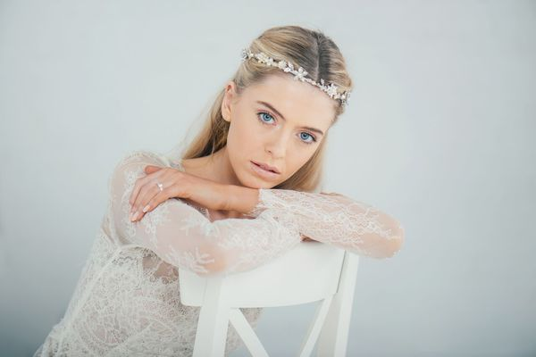 Boho pearl blossom circlet by Halo and Co at Liberty in Love - £255