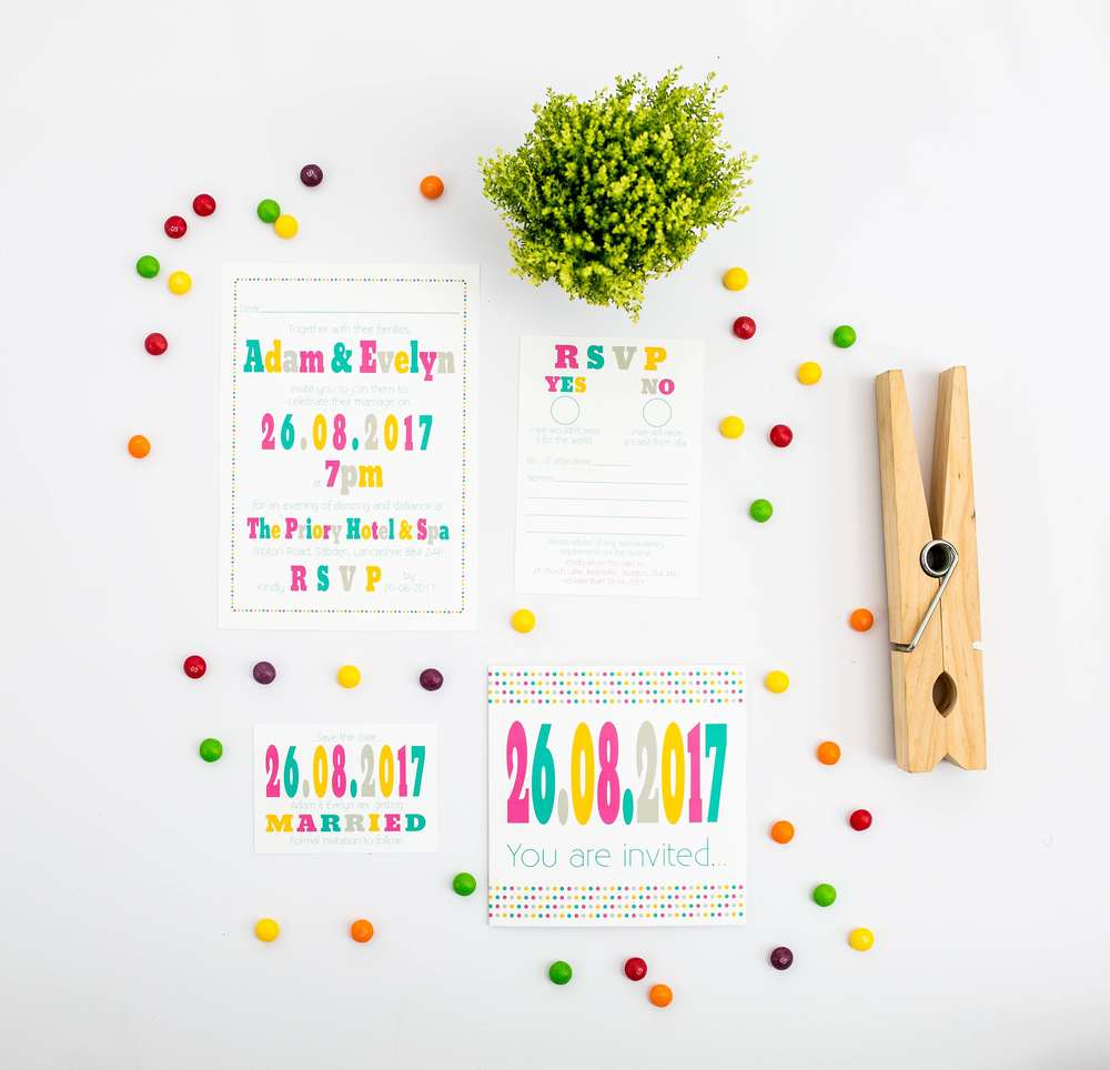 candy-design-range, think good get hitched, wedding stationery