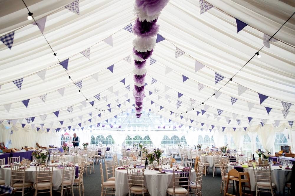 Marquee dressed to perfection, tournerbury woods estate