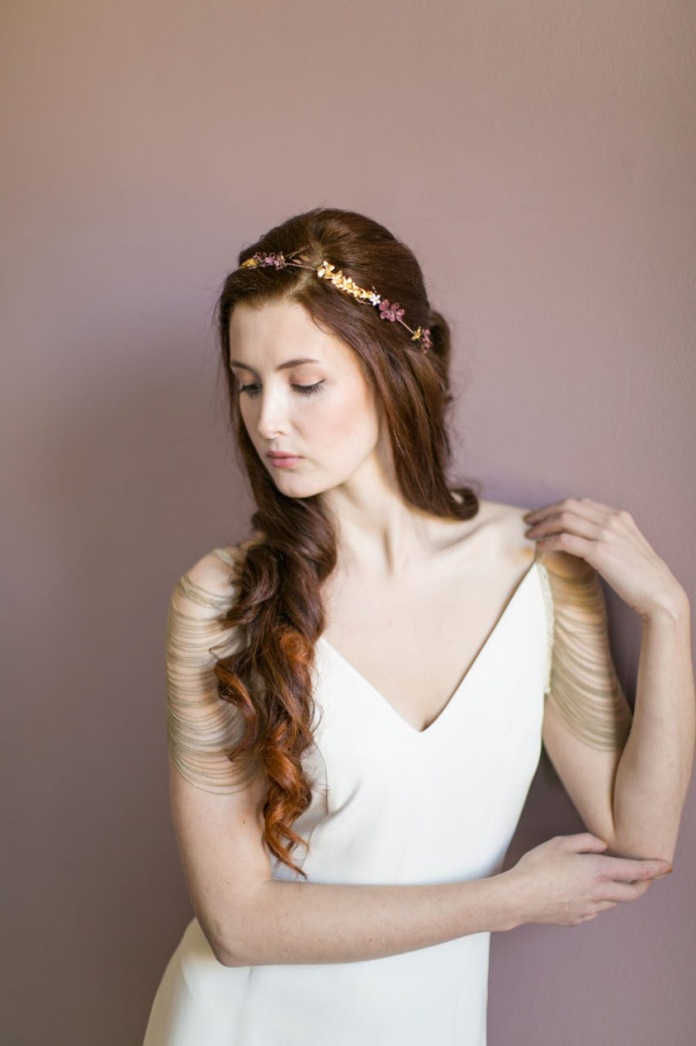 victoria-millesime-odette-gold-orchid-bridal-crown, Image by Anneli Marinovich