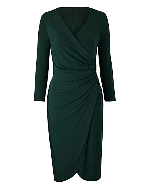 Forest Green Joanna Hope wrap dress, Simply Be