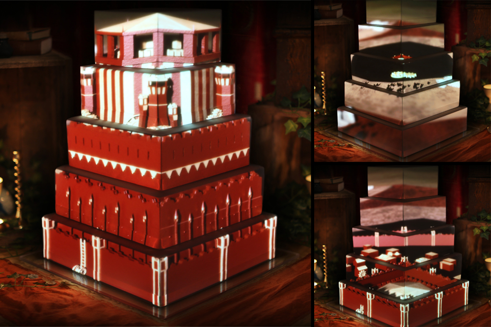 game-of-thrones, luma-bakery-projection-mapped-cakes, wedding-cakes
