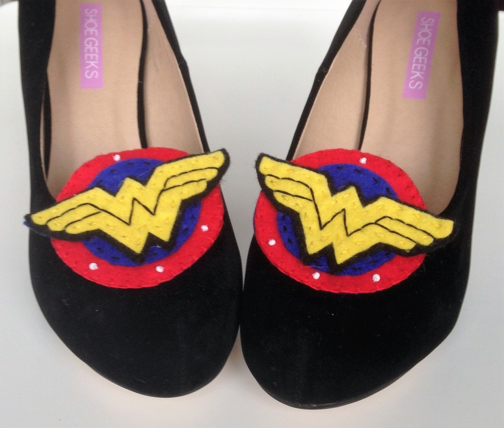 wonderwoman shoe clips - flipside bride