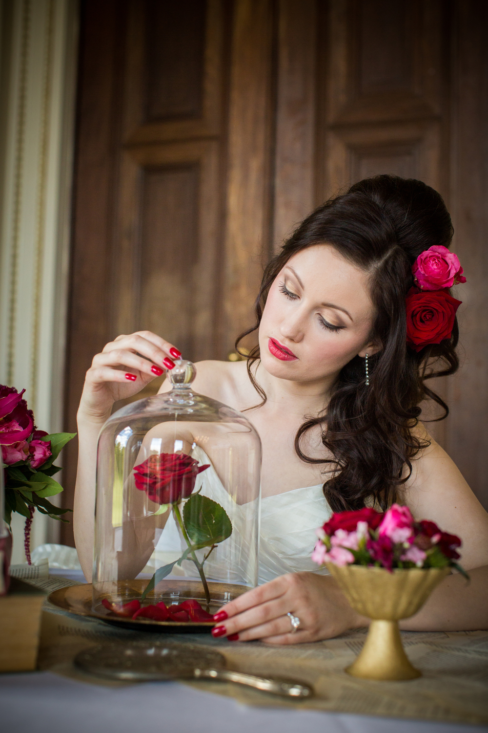 An enchanting Beauty and the Beast inspired wedding styled