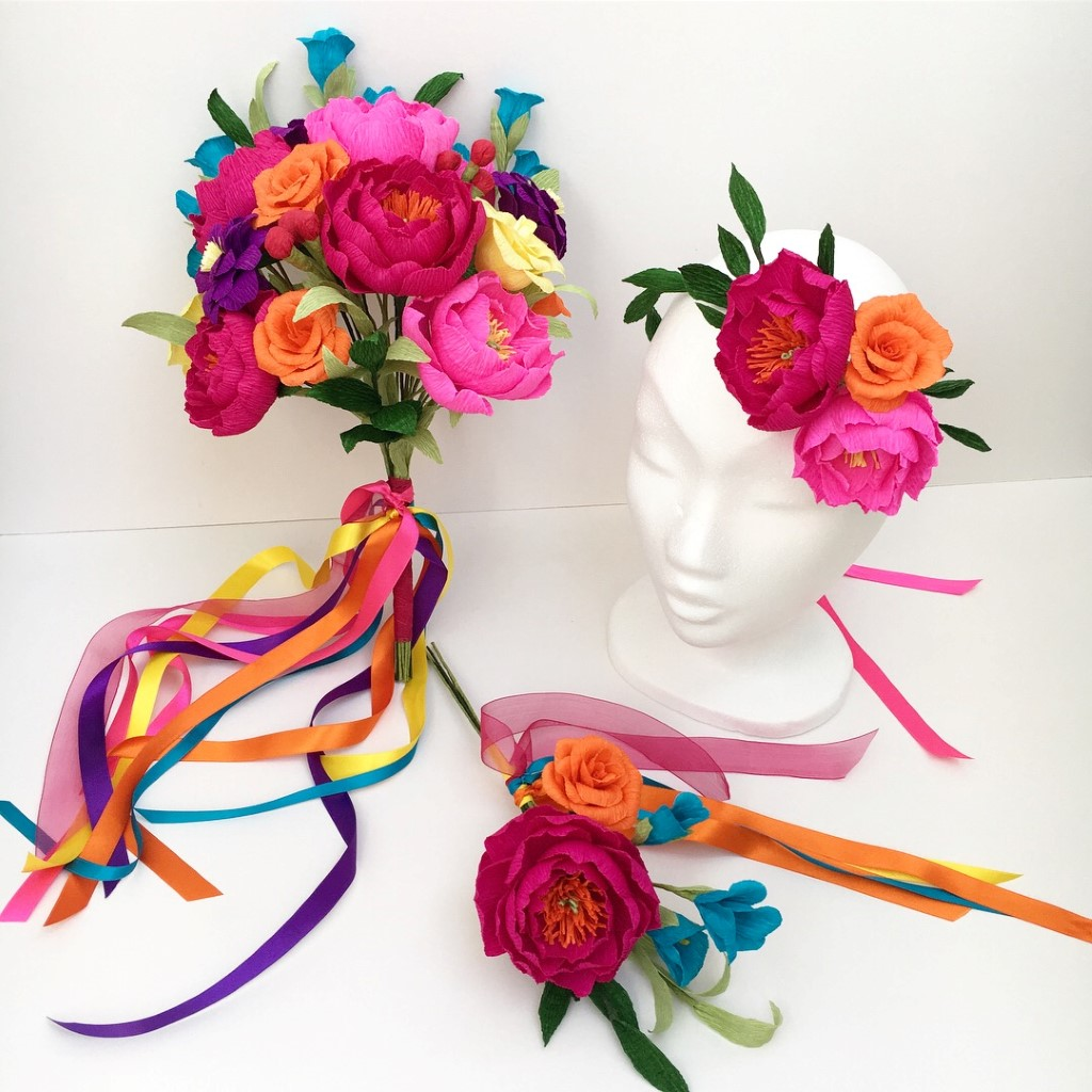 Captivating Bespoke Paper Flowers For Your Wedding From