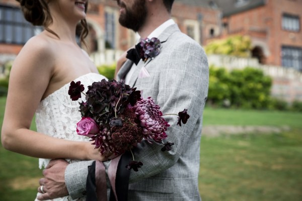 A chic Industrial Luxe Wedding styled shoot with beautiful autumnal jewel tones