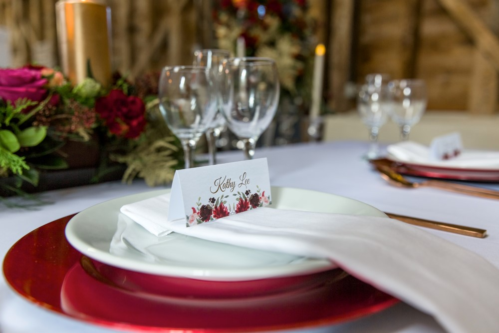 winter wedding - wedding tablescape