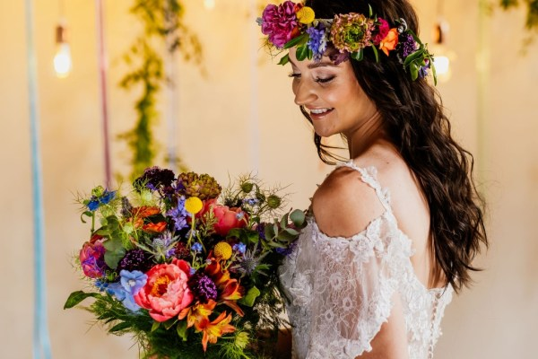 A colourful bohemian inspired bridal shoot with a Moroccan edge