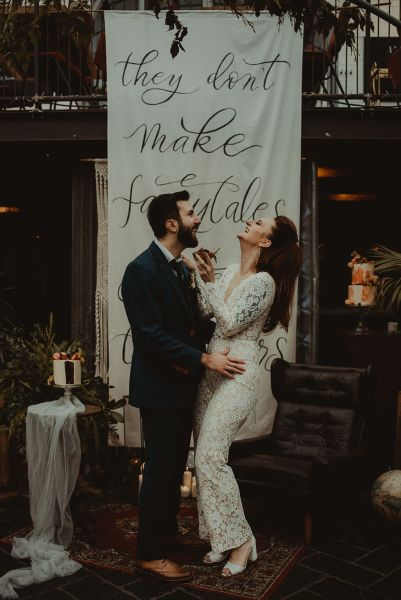 Eco and sustainable wedding inspiration meets industrial luxe