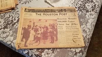 Newspaper in LHO's house