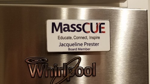 And my MassCUE badge is safe and sound back on my fridge.