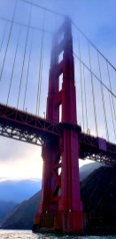 You never get this viewpoint of the Golden Gate!