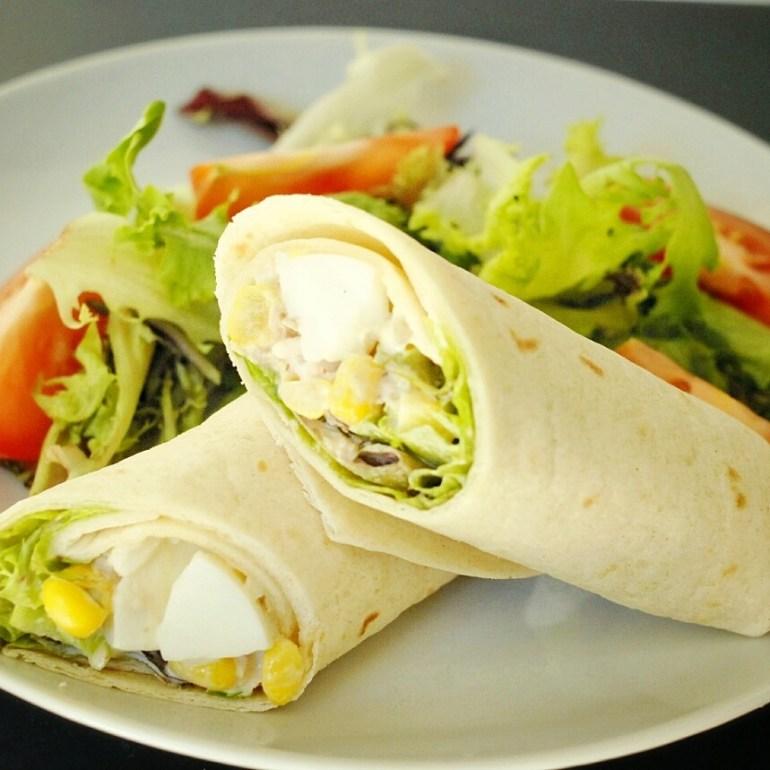 Recipe - tuna salad wrap