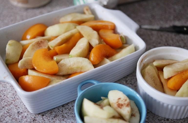 Apple & Peach Crumble