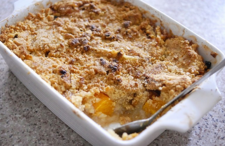 Recipe - Apple and Peach Crumble / crisp