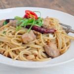 Kung Pao Chicken Stir-Fried Spaghetti 宮保雞丁炒意粉