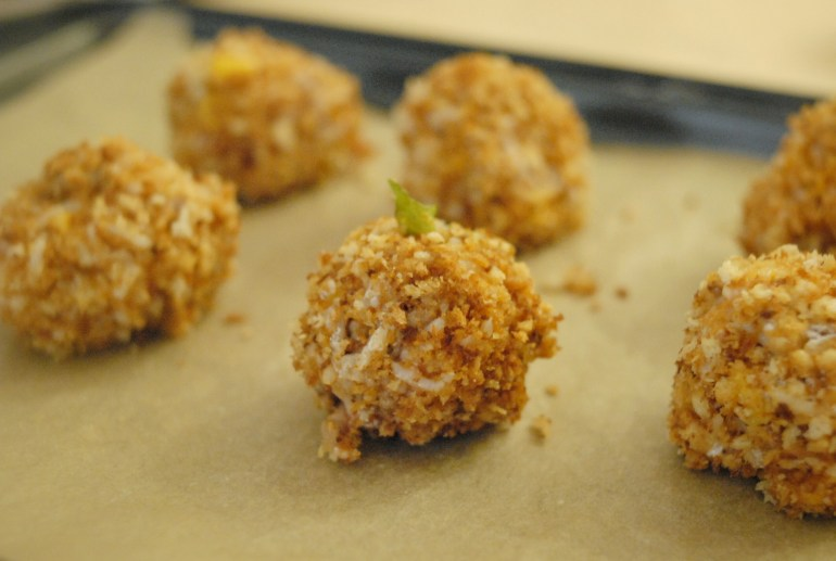 Recipe -Baked Rice Balls