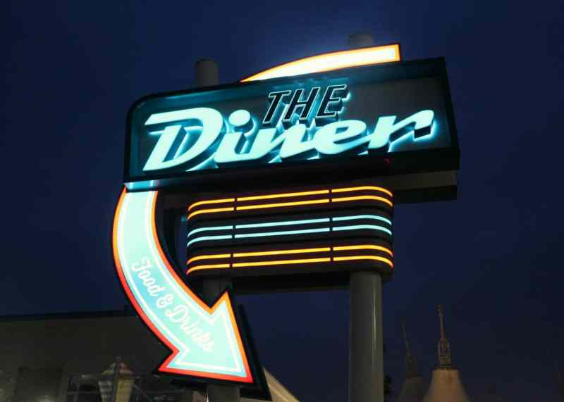 Eating at The Diner Butlin's Bognor Regis