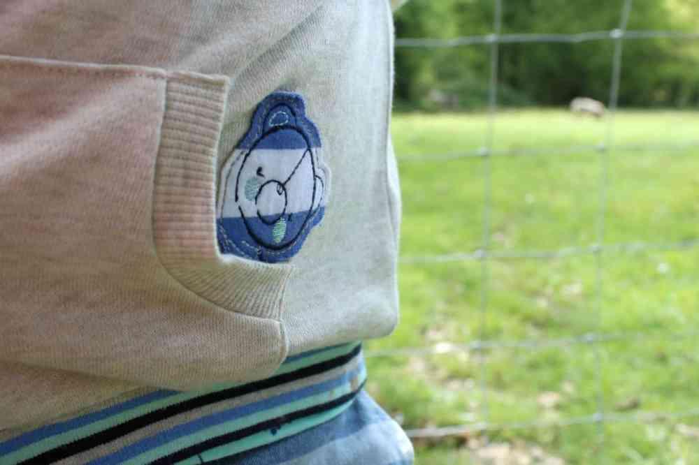 Bailey Bear Hoodie embroidery