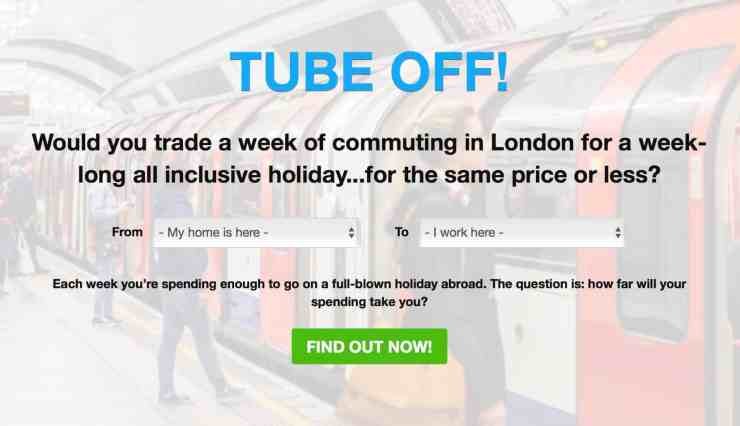 Loveholidays Tube Off commute