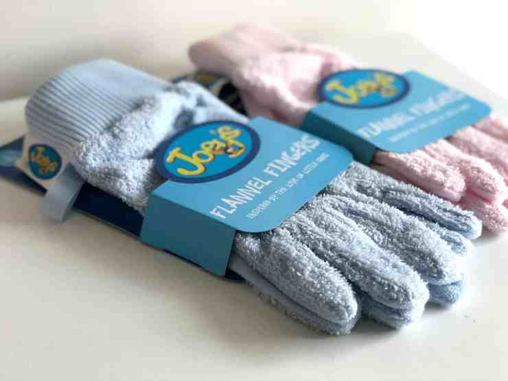 Flannel Fingers Blue Pink Baby Bath