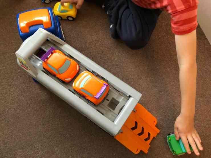 Big Steps Vroom Super Car Transporter from Smyths Toys 4