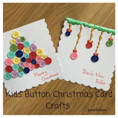 Kids Button Craft Christmas