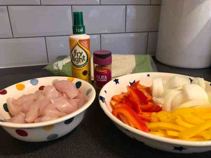 Frylight Chicken Fajitas