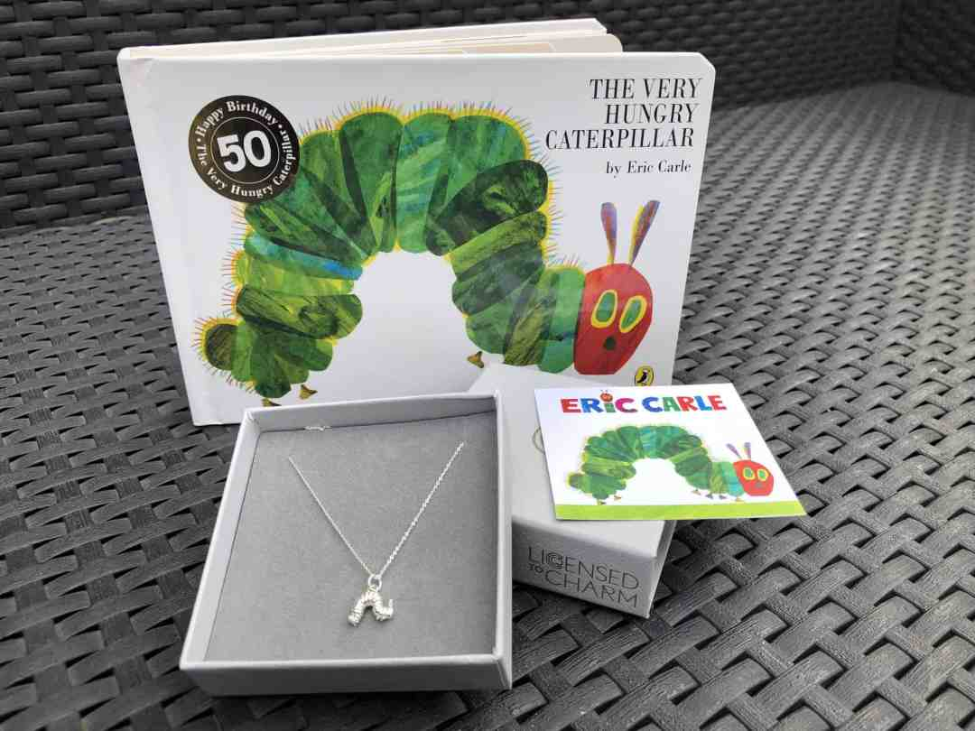 Very Hungry Caterpillar charm necklace