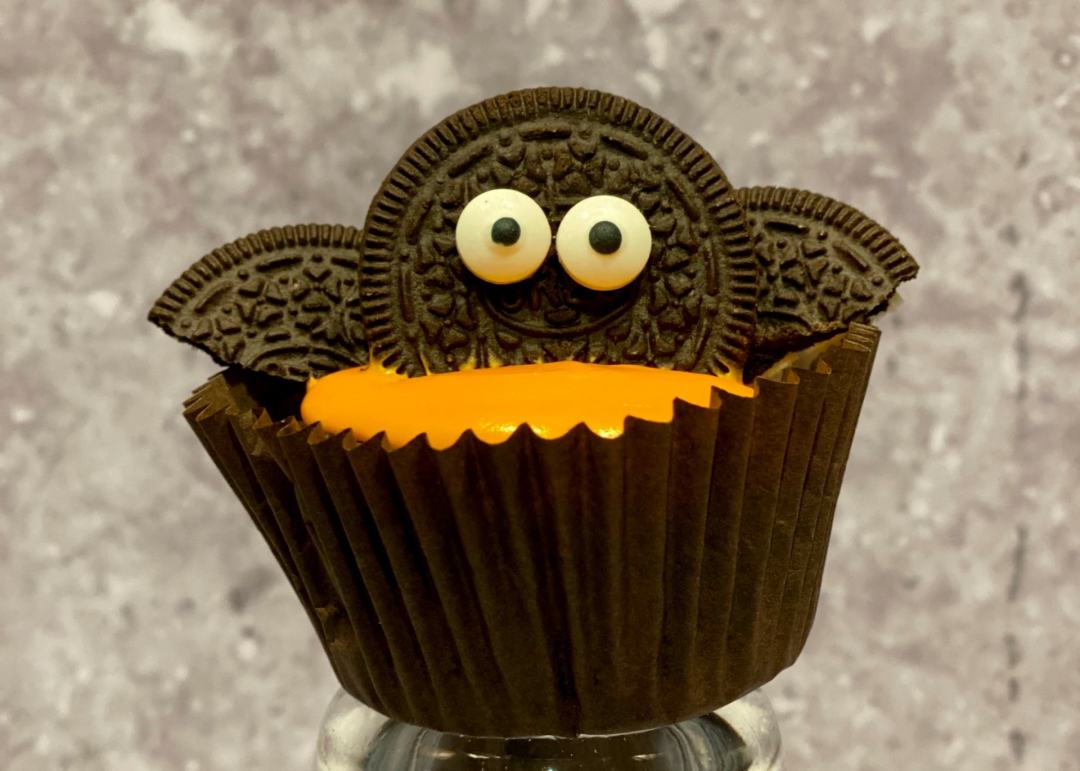 Halloween Oreo Bat Cupcake